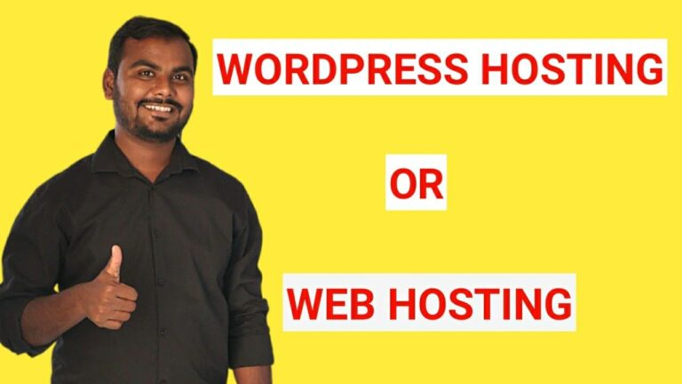 WordPress hosting and web hosting Difference?