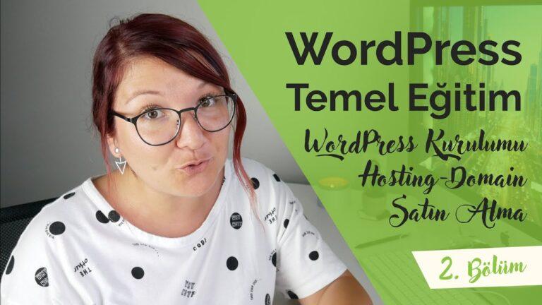 BASIC EDUCATION WORDPRESS |  Part 2: WordPress Installation |  Hosting: buying domains