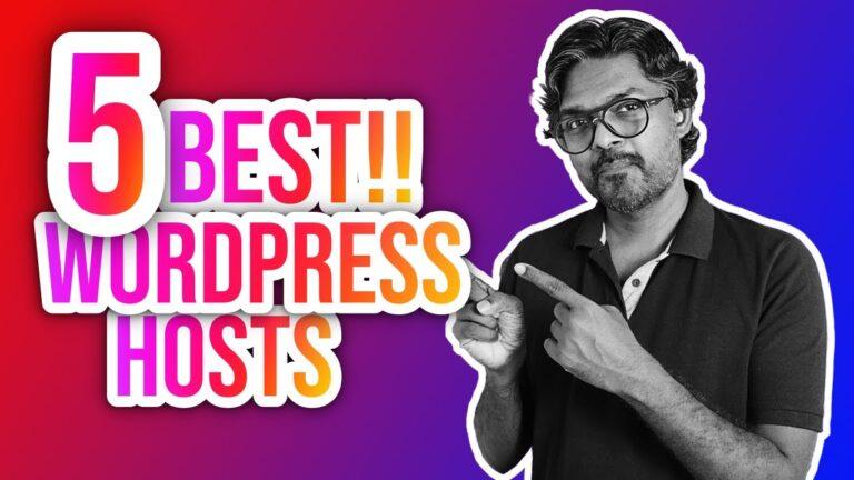5 BEST WORDPRESS HOSTS for BLOGGERS (Honest Review) 🤭 #WordPress #Hosting