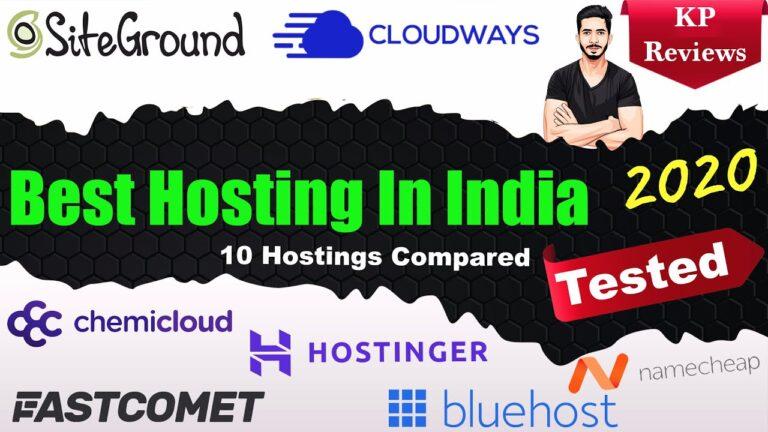 Best Hosting in India (2020) 🔥 ||  The best hosting for WordPress, e-commerce [All Tested 💯]