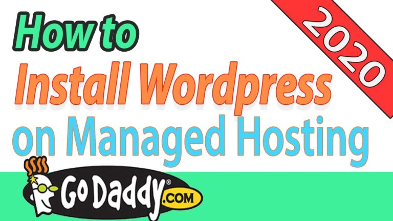 How to build a wordpress website using godaddy managed hosting in 2020