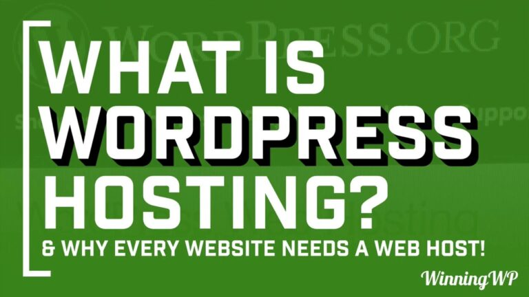 What is WordPress hosting?  All you need to know!