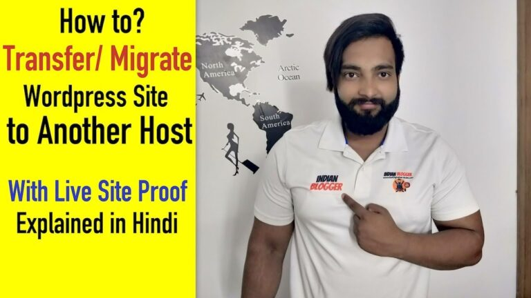 How to Transfer / Migrate a WordPress Site to a New Hindi Host