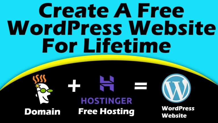 How To Create A Free WordPress Website With Free Hostinger Hosting In Just 10 Minutes.[Lifetime Free]
