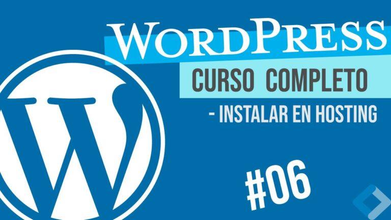 Install WORDPRESS ON OWN DOMAIN HOSTING (GoDaddy) – WordPress COURSE # 06