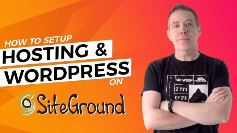 SiteGround WordPress Tutorial – Hosting & WordPress 2020 Setup Guide