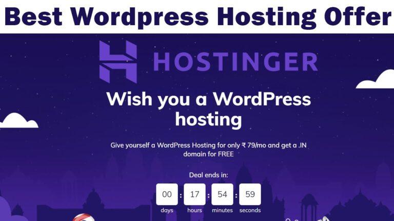 Best WordPress Hosting Deal – Hostinger Christmas Sale – Rs 79 / month Offer