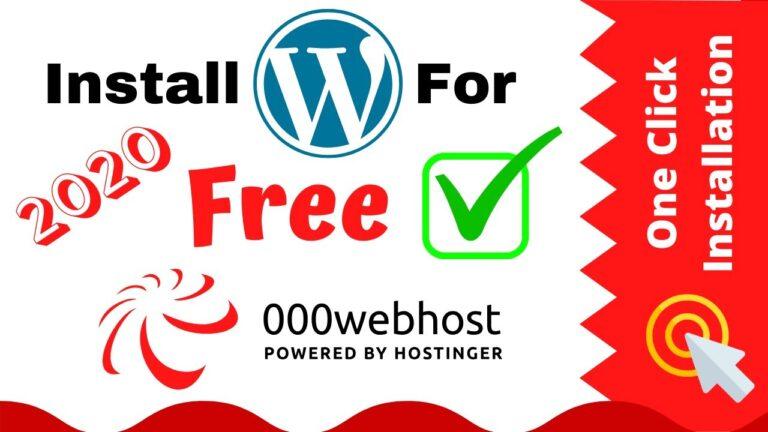 How to install WordPress on 000webhost [FREE Web Hosting]