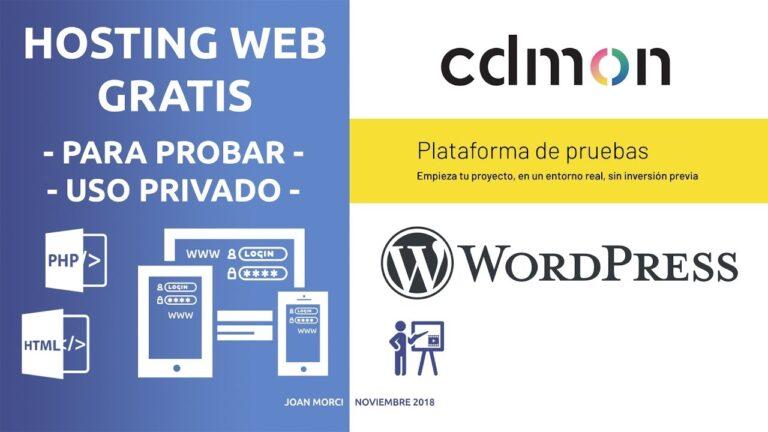 WordPress: Free Hosting with CDmon (trial)
