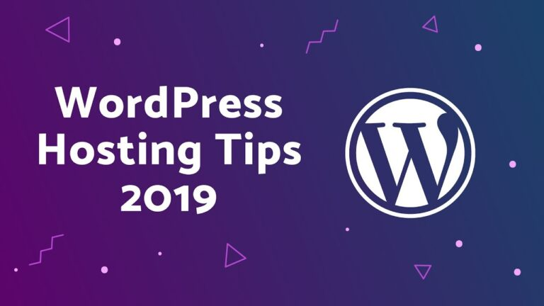 WordPress Hosting Recommendations 2019