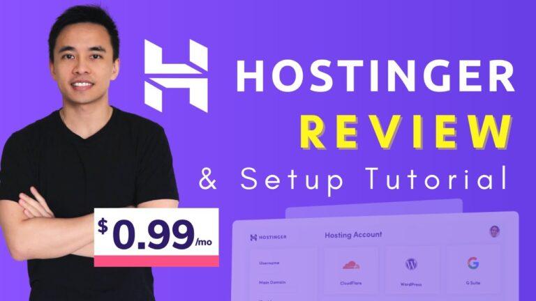 Hostinger Review and WordPress Setup Tutorial – Best Budget Web Host 2021?