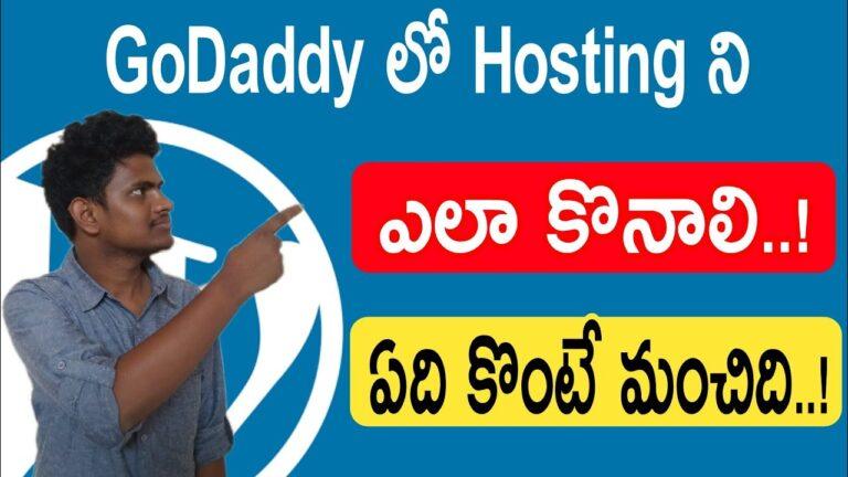 How to Buy Hosting in Telugu »Useful Wiki WordPress Tutorials for Beginners in Telugu