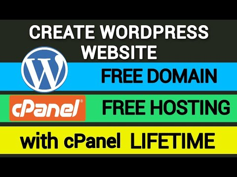 Create Free WordPress Website With Free Domain, Free Hosting, Cpanel Lifetime – Buy Free Domain