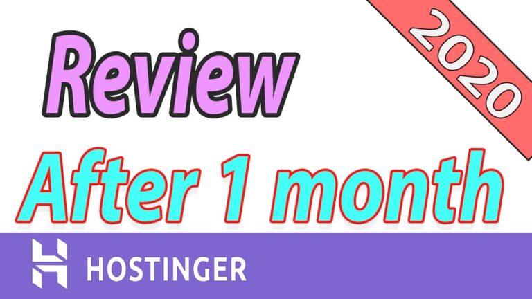 My honest WordPress Hostinger hosting review after 1 month
