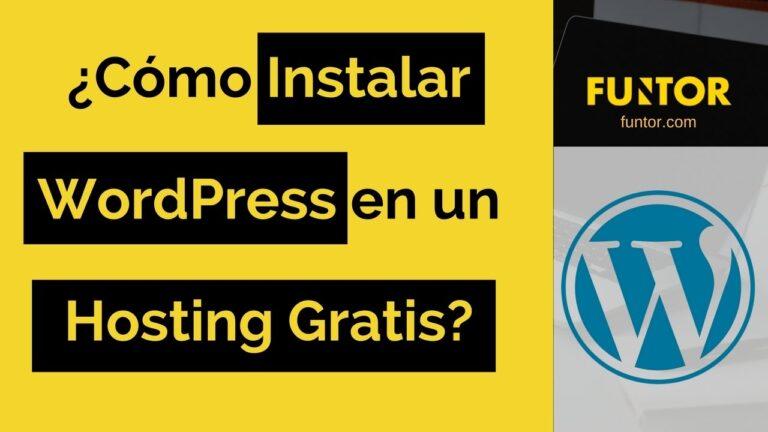 🔴 How to Install WordPress on a Free Hosting [ MUY FÁCIL ]