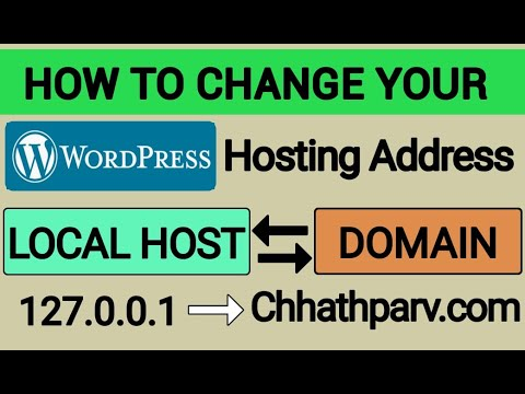 How to change your WordPress hosting URL – Local Host (127.0.0.1) to your domain