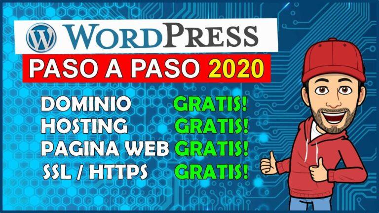 🖐️ WordPress # 1: FREE Website 2020 Domain, Hosting, Website, SSL, Spanish course / tutorial
