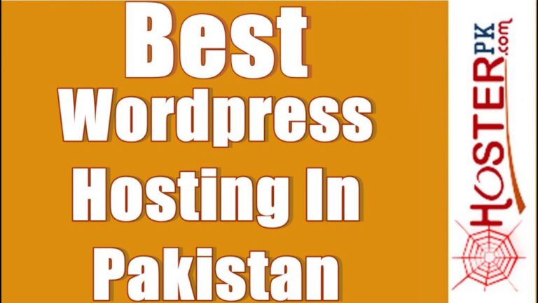 Best WordPress Hosting in Pakistan |  WP Hosting Plans |  Hosterpillar
