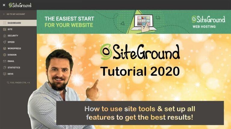 SiteGround 2020 Tutorial |  # 1 Managed WordPress Hosting