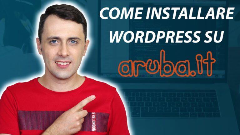 How to install WordPress in Aruba ☑️