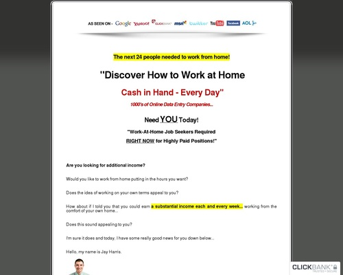 Home Jobs Directory – Over 2,500 Online Date Entry Jobs