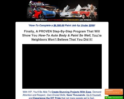 Learn Auto Body VIP Mastery Program