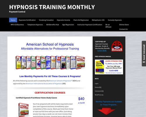 Hypnosis Training Monthly | Payment Central
