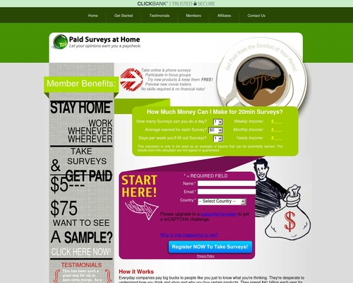 Paid Surveys at Home –