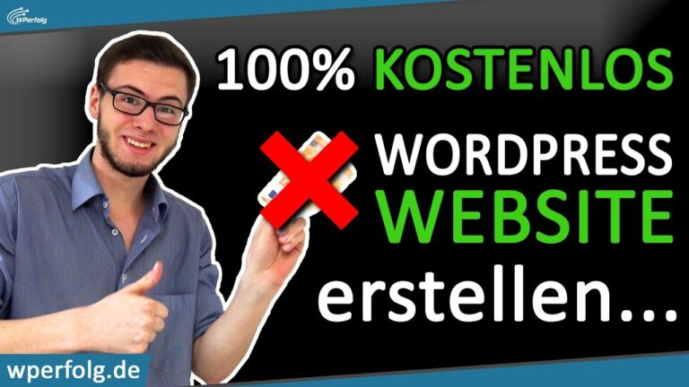 ✔ 100% FREE WordPress website creation and hosting 👉 With this secret guide!  German 2021