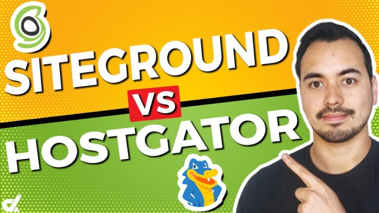 Siteground vs HostGator WordPress Hosting 🔥 Who is the best web host?  (My recomendation)