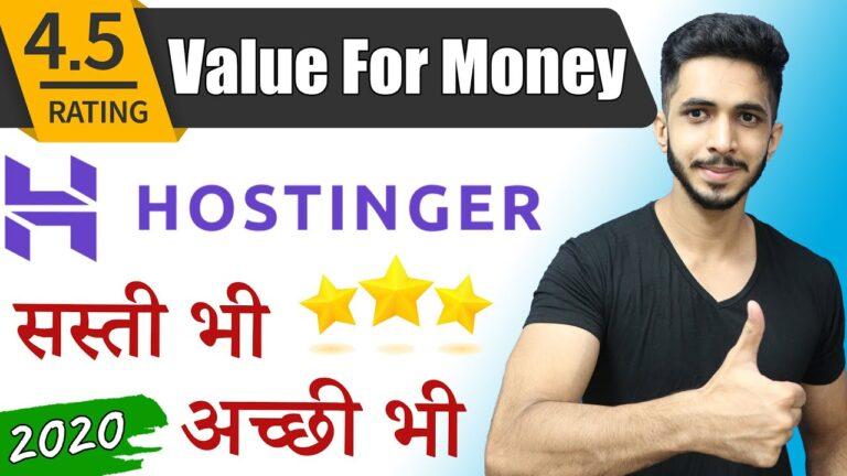 India's Best Affordable & Fast Web Hosting 🔥 (2020) – Ft. Hostinger