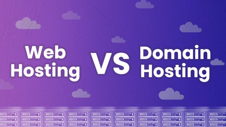 What is the difference between web hosting and domain hosting?