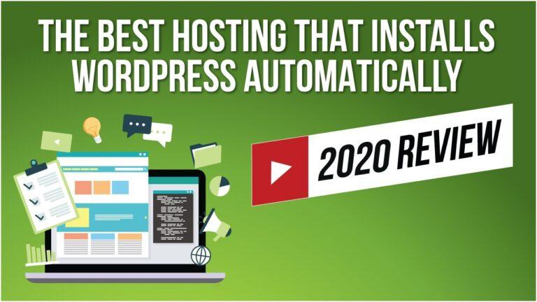 Best WordPress Hosting 2020 [Step-By-Step Guide]