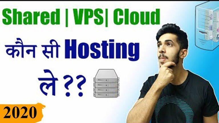 Shared Hosting Vs Cloud Hosting Vs VPS Vs Dedicated Hosting (Hindi) 2020 🔥 ||  Accommodation explained