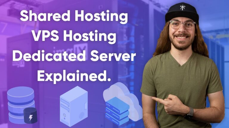 Explanation of the different types of web hosting!  |  Shared Hosting vs. VPS Hosting vs. Dedicated Server
