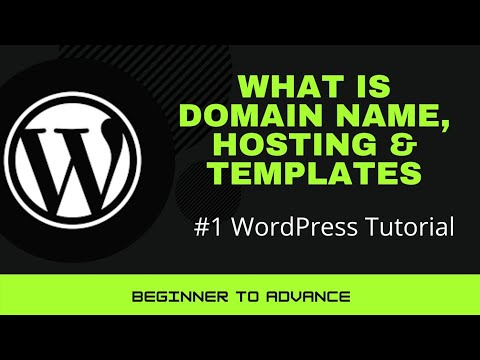 What is the domain name?  what is hosting |  what is a template in wordpress |  domain name in hindi