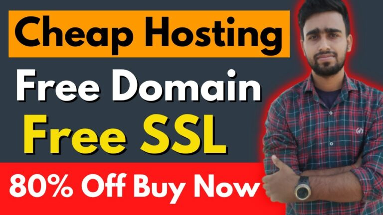 Cheap Web Hosting – Free Domain & Free SSL Huge 80% Discount Buy Now – Holi Special