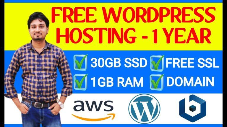 1 Year Free WordPress Website Hosting – Install / Configure WordPress on Amazon Web Services (AWS)