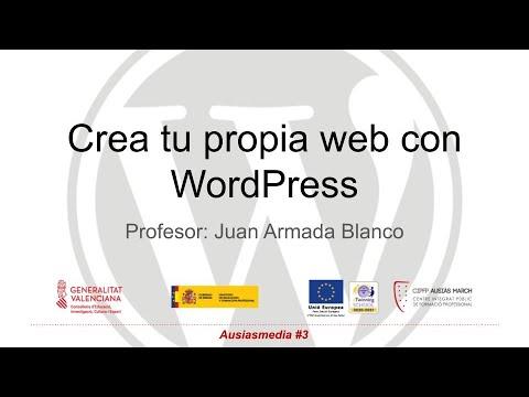 # 3 – Create your website with WordPress |  HOSTING – Ausiasmedia – Juan Armada