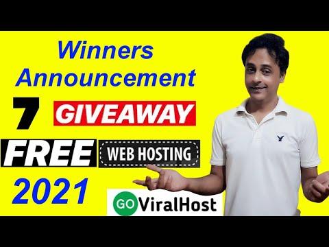 Winners Announcement!  7 free draw |  1 Year Free WordPress Web Hosting (2021)