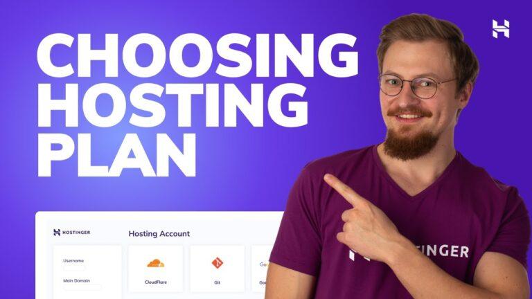 Hostinger web hosting plans explained |  Shared Web Hosting, WordPress Hosting, VPS, Cloud Hosting