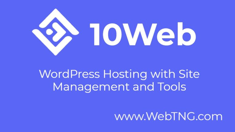 10Web – WordPress Hosting with Tools and Site Management