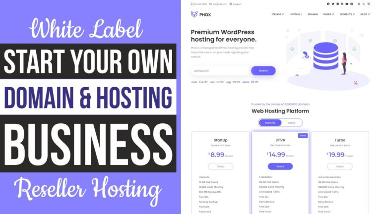 How To Start A Website And Domain Business And Hosting In WordPress And WHMCS – White Label Reseller Hosting