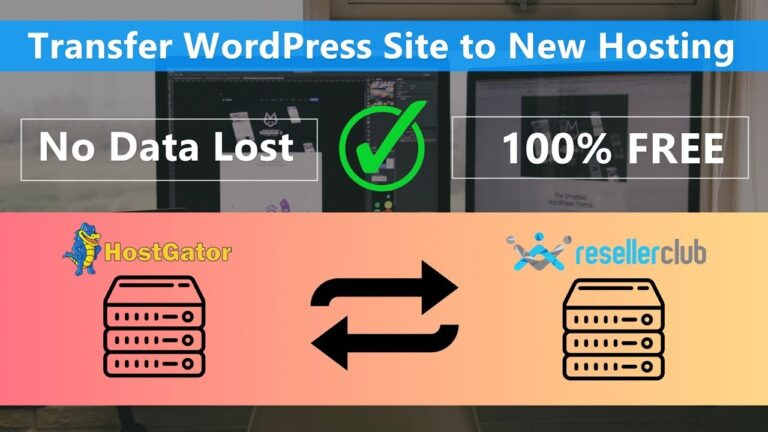 Transfer / migrate WordPress site to new hosting for FREE