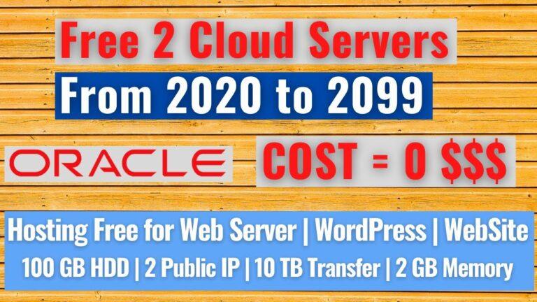 How to get the best free hosting server for WordPress 2020 – 2099    Cloud server, website