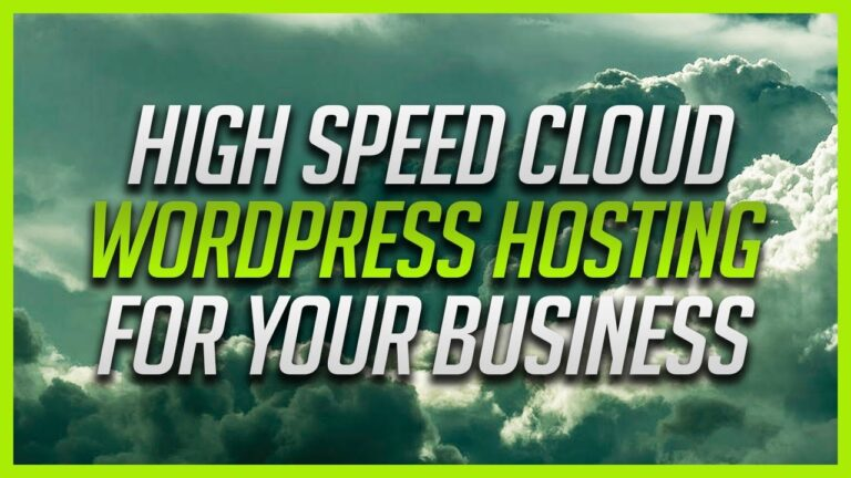 High speed cloud WordPress hosting for your business