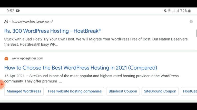 best hosting for wordpress 2021