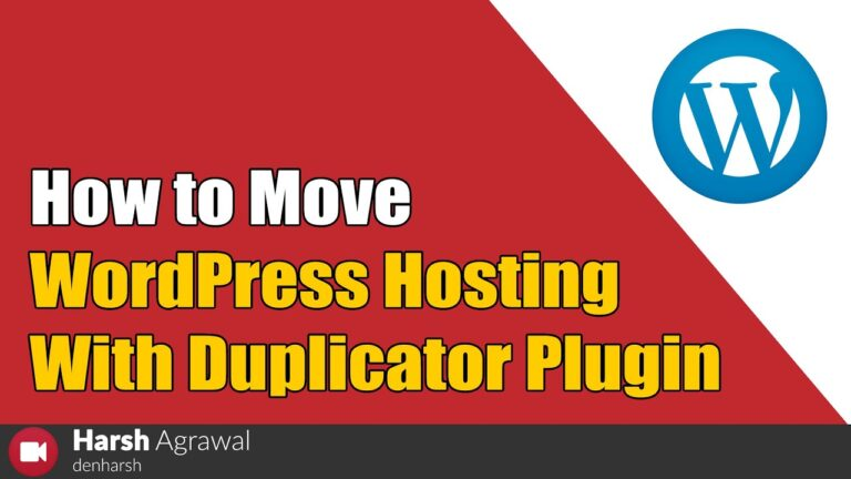 How to move WordPress hosting with the duplicator plugin