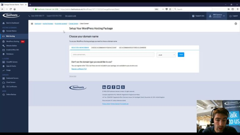 Setting up your new WordPress Fasthosts hosting package
