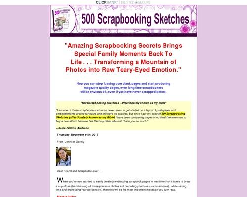 500 Scrapbooking Sketches